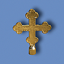 Metal Botonee Gold Cross Flagpole Ornament