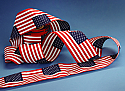 "Sewn Strip of Cotton US Flags (4""x6"" - 12""x18"")"