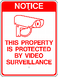 Video Surveillance Notice Sign