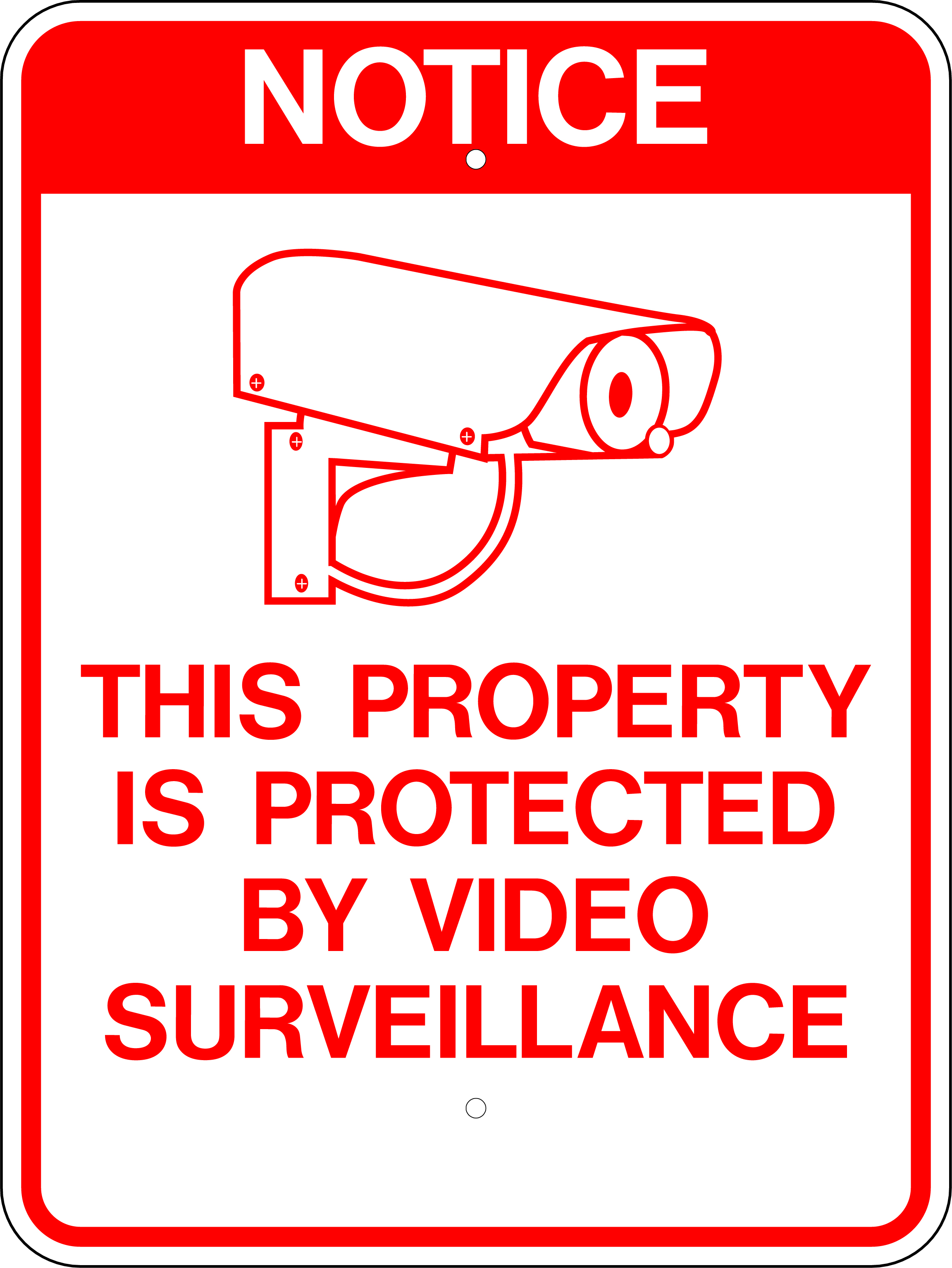 image about Video Surveillance Signs Printable known as W.G.N Flag Decorating Co. \u003e Inventory Symptoms Banners