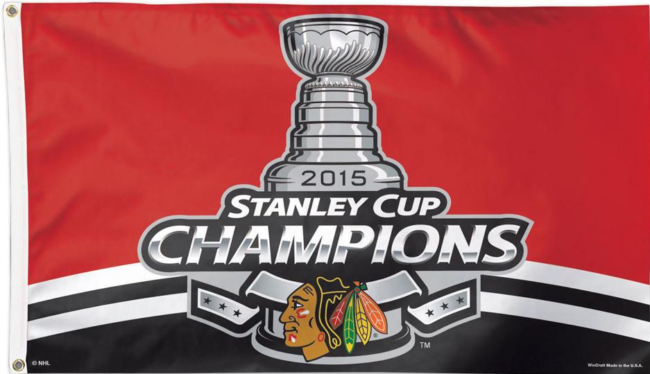 Hockey-NHL Chicago Blackhawks 2015 Champions 3x5 Flag and Banner Sports Mem, Cards & Fan Shop